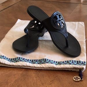 Tory Burch Black Leather Sandals